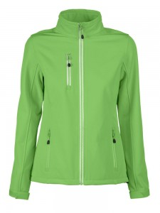 PRINTER SOFTSHELL VERT LADY ZIELONY