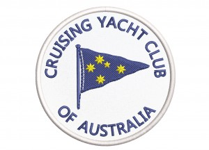 NASZYWKA CRUSING YACHT CLUB OF AUSTRALIA 80 x 80 mm