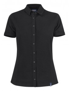HARVEST KOSZULKA POLO SHELLDEN  LADY BLACK
