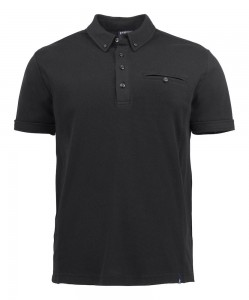 HARVEST KOSZULKA POLO SHELLDEN  BLACK